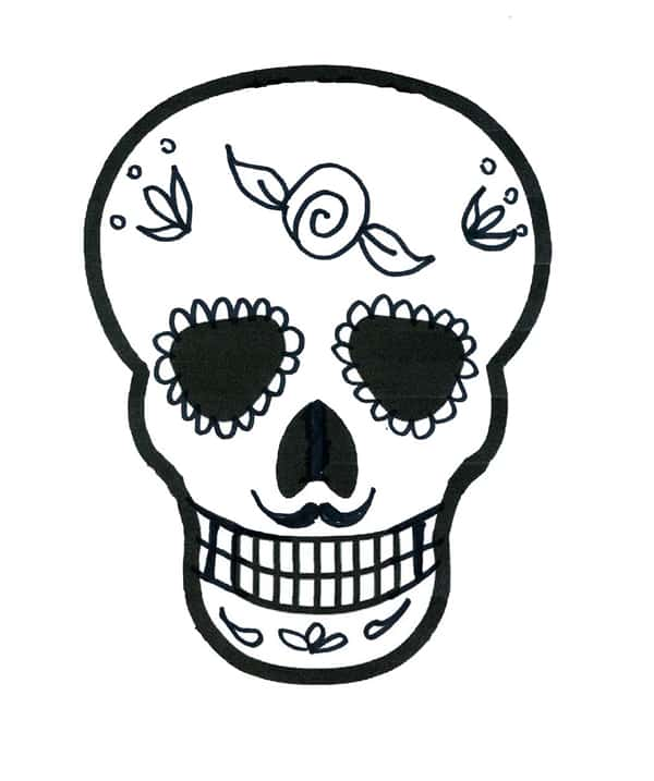 Desenho De Caveira Mexicana 30 Modelos Artesanato Passo A Passo