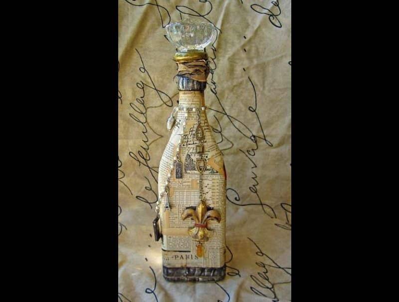 decor de casamento garrafa