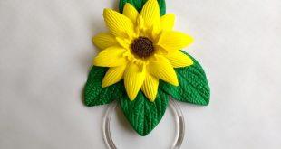 Porta Pano de Prato EVA com Flores