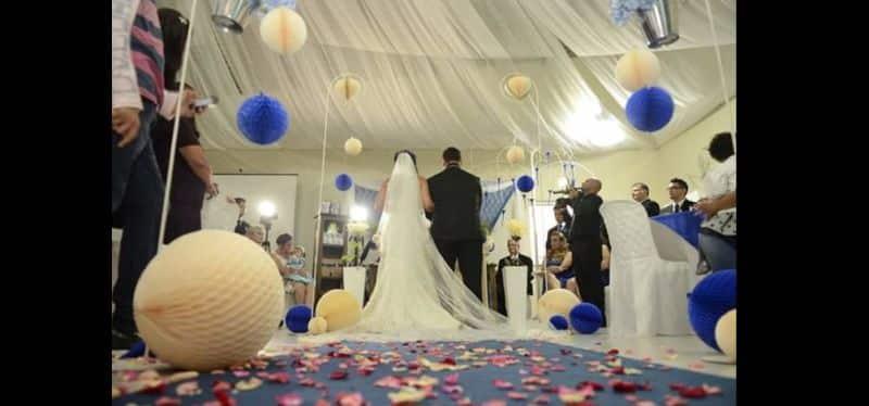 decor de casamento com bolas