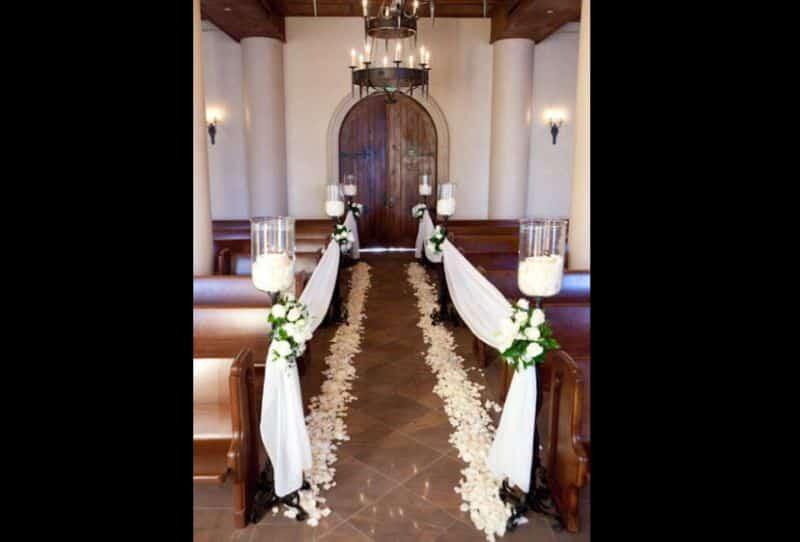 decor de casamento igreja