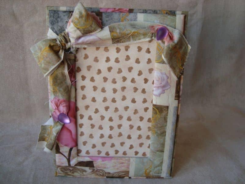 porta retrato de tecido laço