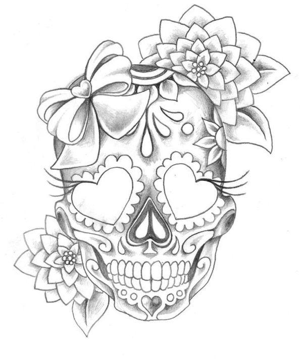 Desenho de Caveira Mexicana 30 Modelos Artesanato Passo