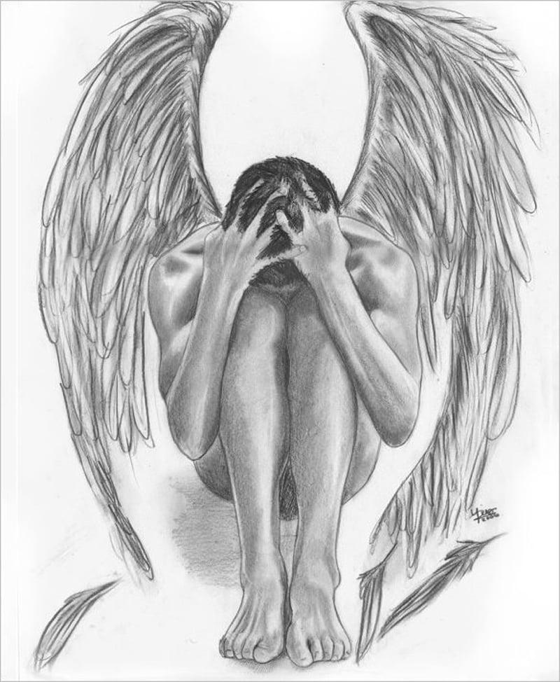 imagem de anjo realista