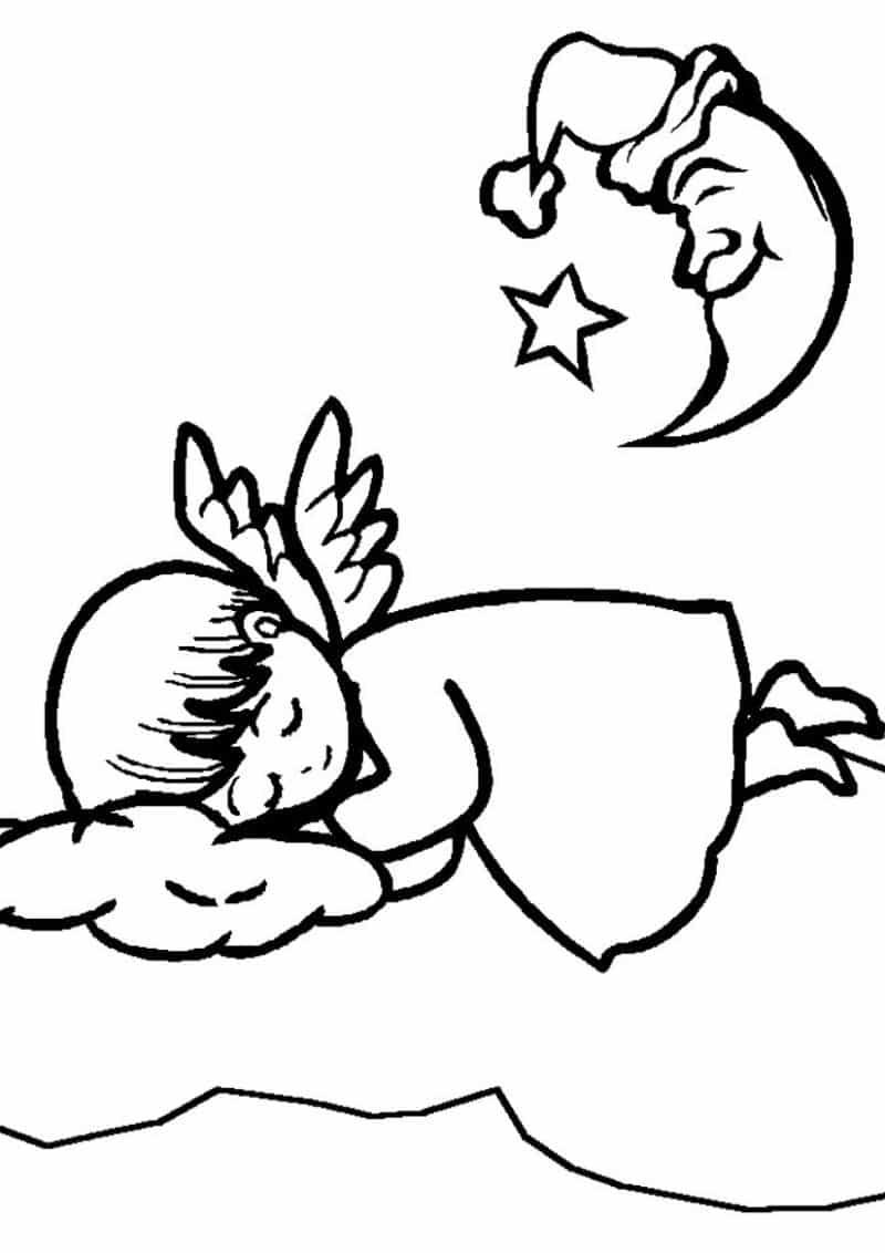 imagem de anjo dormindo
