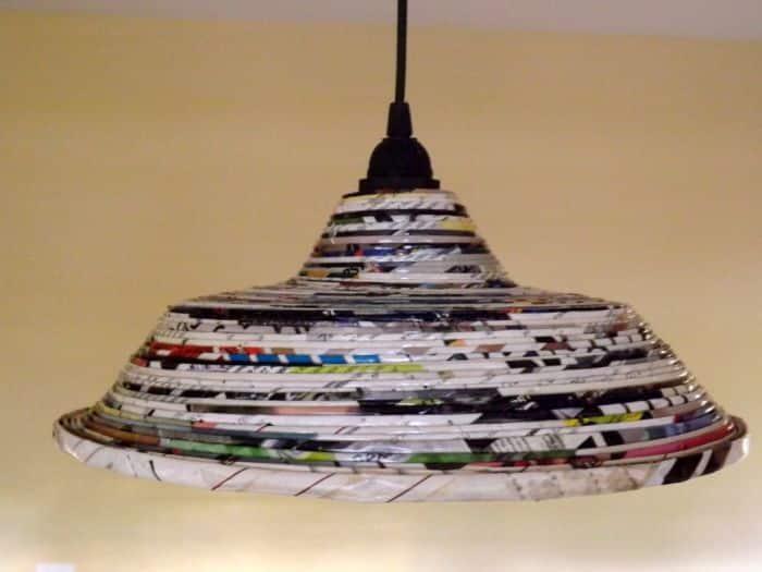 lustre artesanal de papel