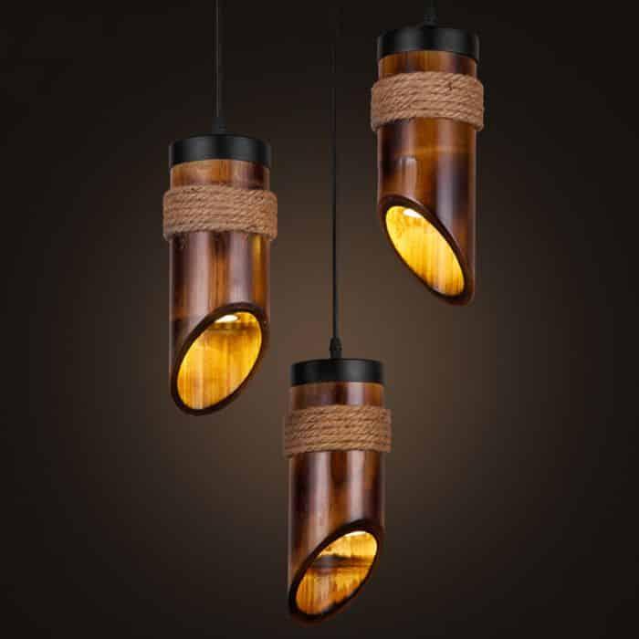 lustre artesanal bambu