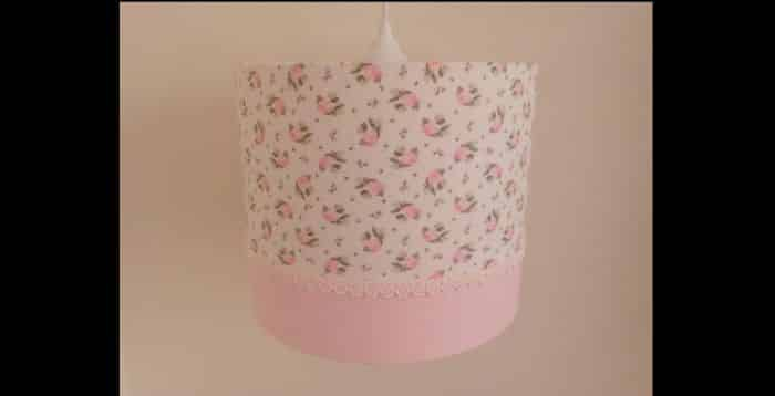 lustre artesanal tecido
