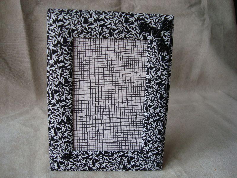 porta retrato de tecido preto