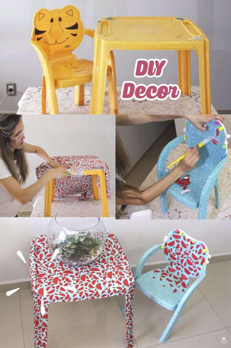 mesas e cadeiras decoradas passo a passo