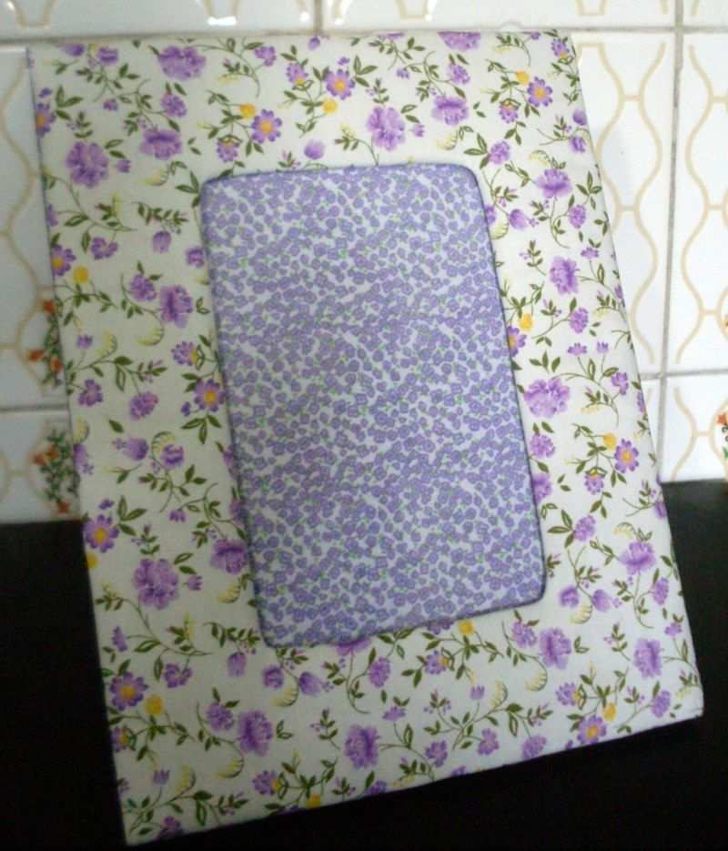 porta retrato de tecido lilas