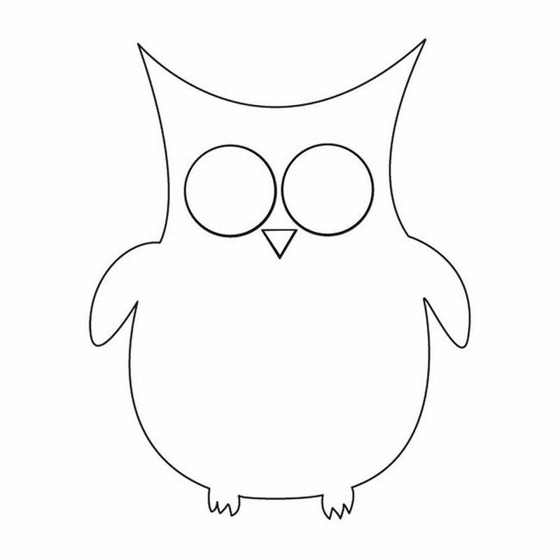 desenho de coruja molde