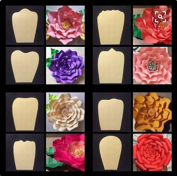 flor de papel com molde