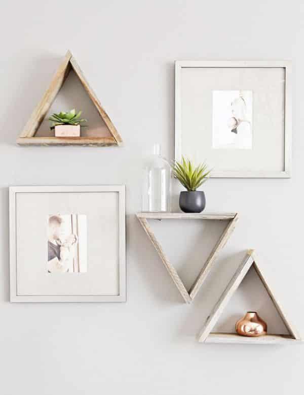 nicho decorado triangulo