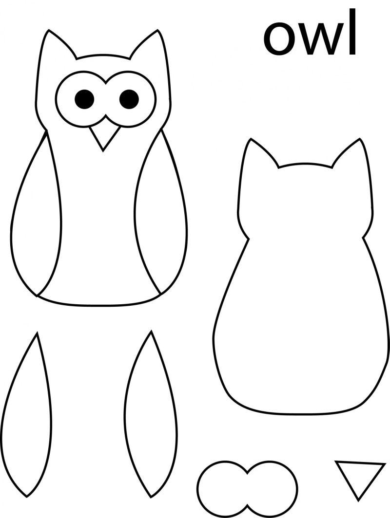 desenho de coruja moldes
