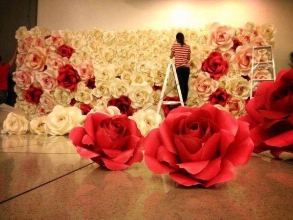 flor de papel rosinhas