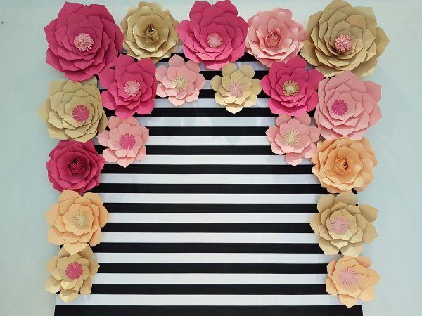 flor de papel listrada