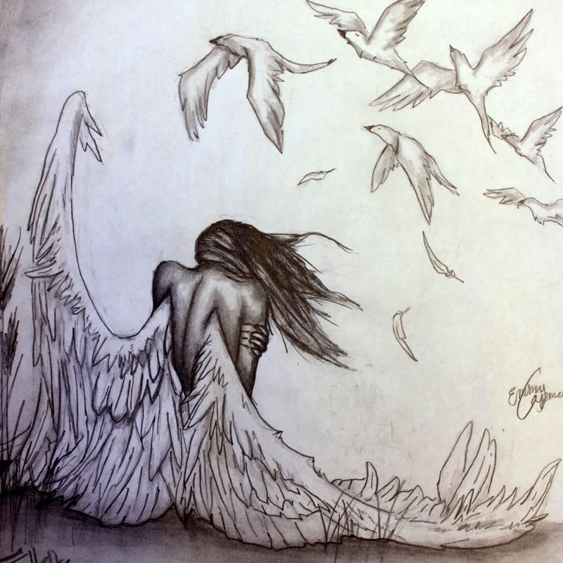 imagem de anjo passaros