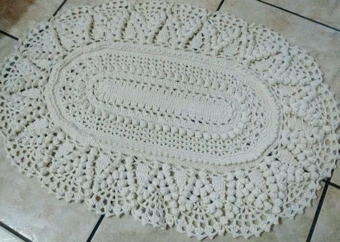 tapete croche branco