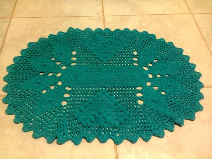 tapete croche verde