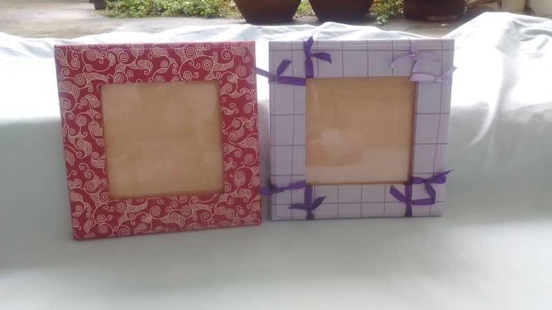 porta retrato de tecido quadrado