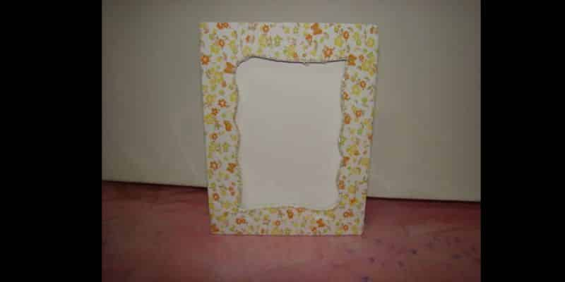 porta retrato de tecido estampa