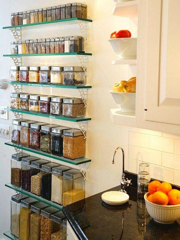 prateleira de cozinha vidro