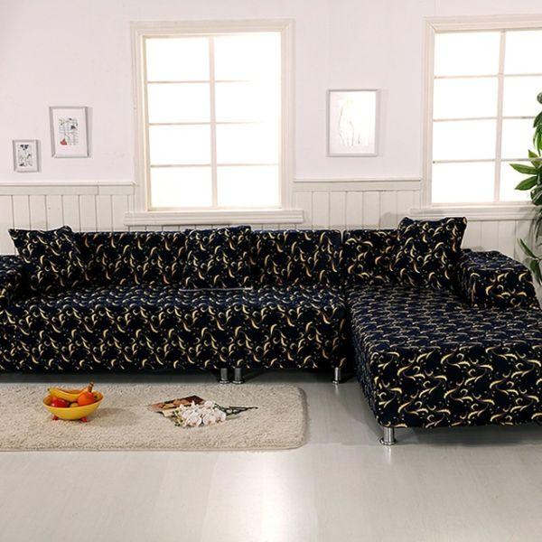 capa de sofa estampada