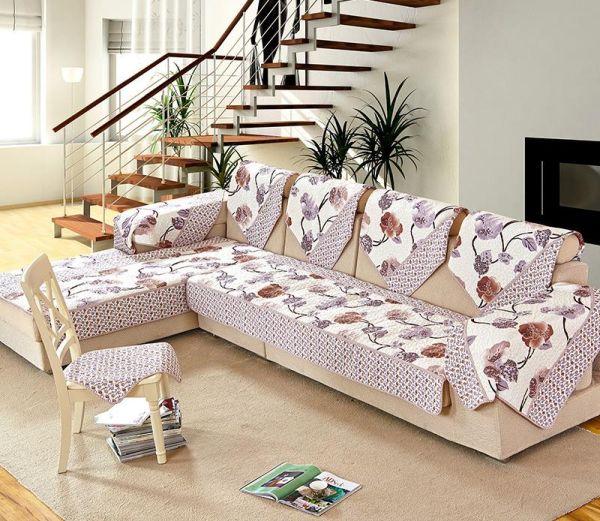 capa de sofa com estampa