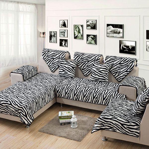 capa de sofa de zebra