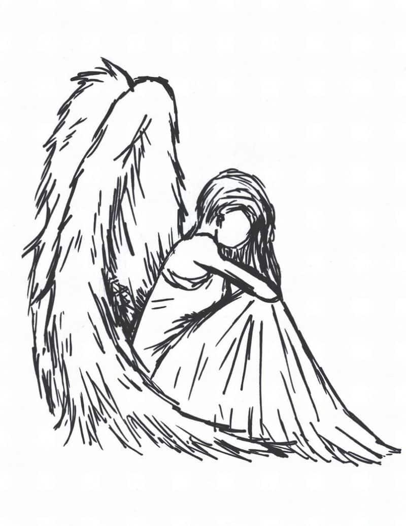 imagem de anjo risquinhos