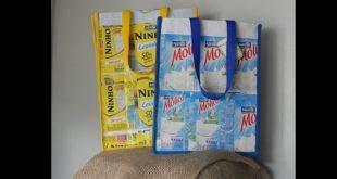 sacolinha de caixa de leite diferente