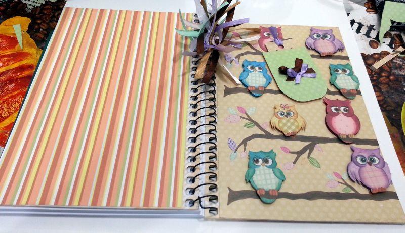 caderno decorado espirais