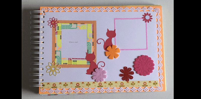 caderno decorado scrapbooking
