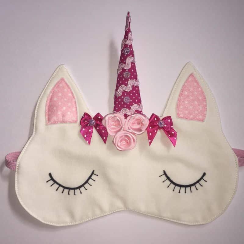 mascara de dormir unicórnio sianinha