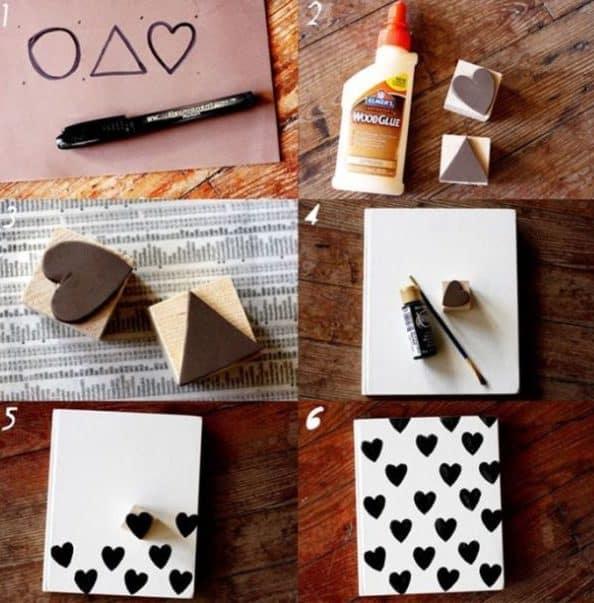 caderno decorado a4