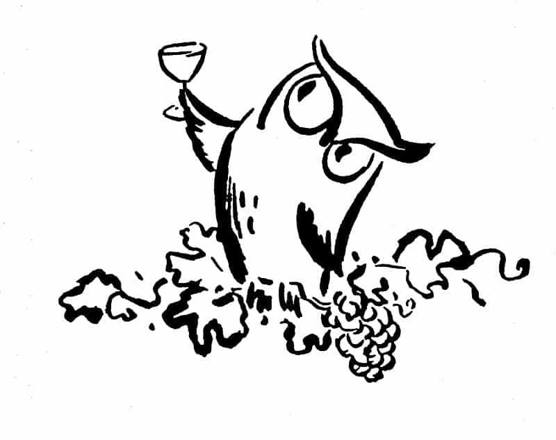 desenho de coruja taça