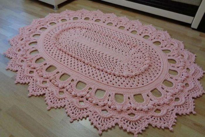 tapete croche rosa