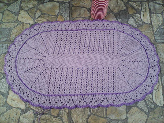 tapete croche lilas