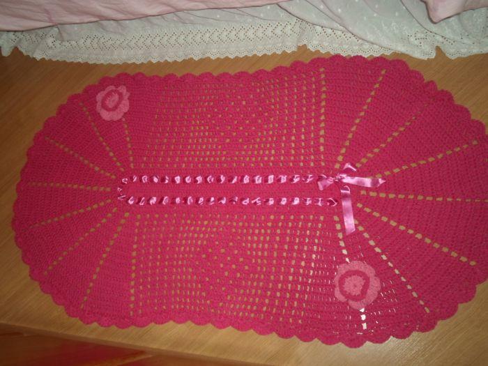 tapete croche vermelho