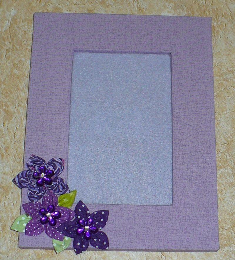 porta retrato de tecido simples