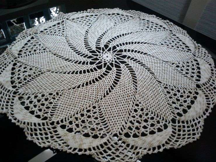 toalha croche espiral