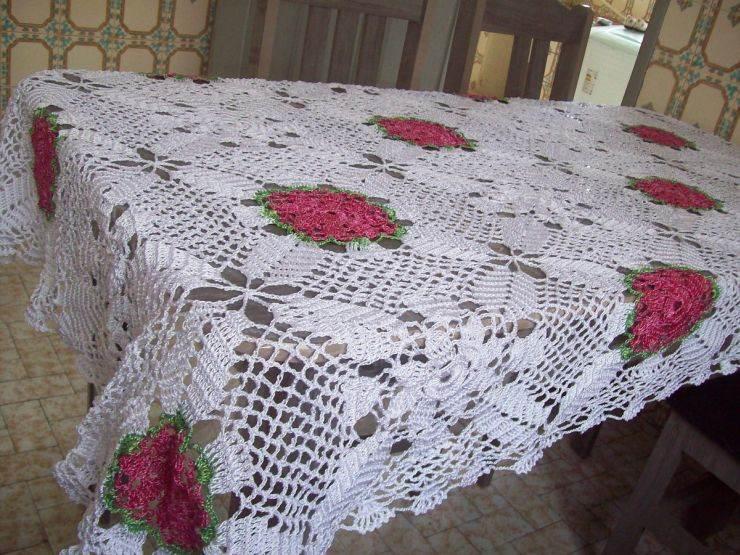 toalha croche retangular