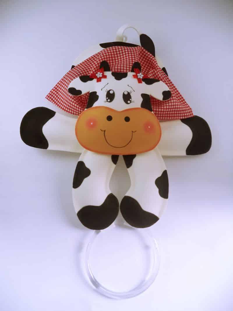 vaca porta pano de prato eva