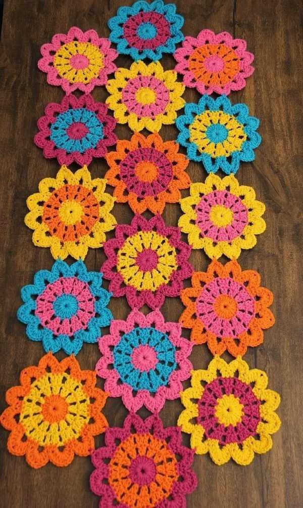 flores de croche com grafico
