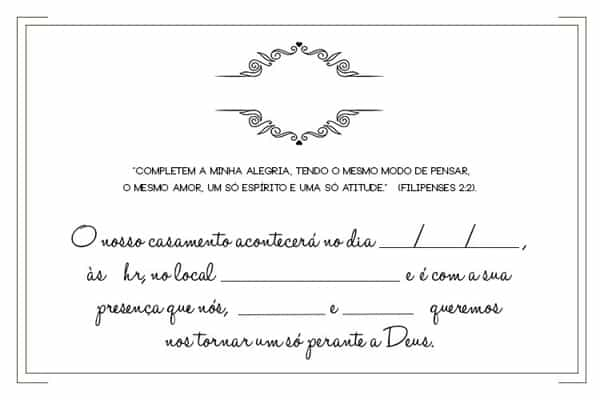 Convite De Casamento Simples E Criativo 30 Modelos Artesanato