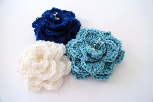 flores de croche para aplicação