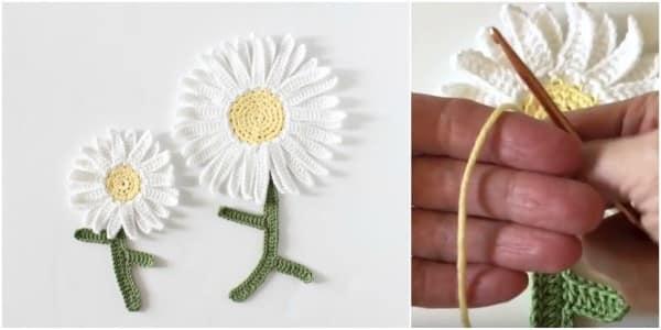como fazer uma flor de croche