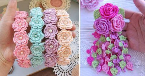 flores delicadas croche