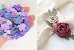 ideia flor de crochê